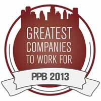 PPB 2013 Greatest Companies To Work For
