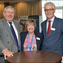 Viv Blumfield, BPMA Chair (center) and BPMA Director General Gordon Glenister (right) with conference guest and speaker Brian Binley MP.