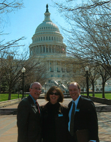 Sherri Lennarson represents PPAI in Washington, DC during the Legislative Education and Action Day, along with Eric Ekstrand, MAS+ and Dale Limes, MAS, both of Geiger.