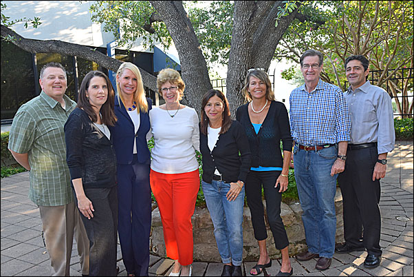 On September 22-23, the PPEF executive committee—(from third left) Lori Bauer, vice president of national accounts, BIC Graphic North America; Pat Dugan, MAS, vice president of sales/marketing, Budgetcard, Inc.; Kippie Helzel, MAS, vice president of sales, CPS/Keystone; Carol de Ville, MAS, president of The Branding Company; and David Tate, president of Signet, Inc.—held their annual planning meeting at PPAI headquarters. While in Irving, they met with (from left) PPAI Executive Vice President Bob McLean; PPEF Foundation Manager Sara Besly and PPAI President and CEO Paul Bellantone, CAE, among others.