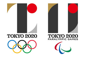 The original logo for the 2020 Olympic and Paralympic Games