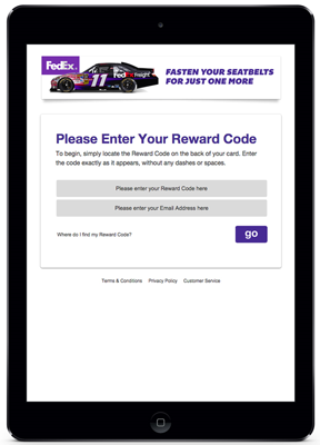 FedEx branded landing page web