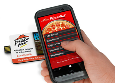 pizza hut smart magnet nfc web