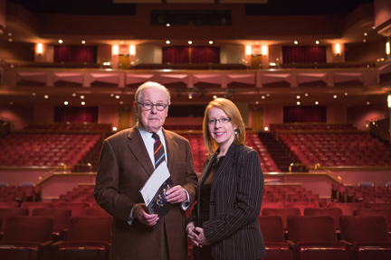 Mark Gilman also provides guidance and support to the Johnson County Community College where he works with Emily Behrmann, general manager of the artistic performing arts department.