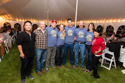 Pictured from left are Alex Wong, Redwood Classics; Danny Braunstein, Talbot Marketing; Jason Brandes, Dairy Farmers of Manitoba; The Dueck Family (event hosts); and Kathy Cheng, Redwood Classics.