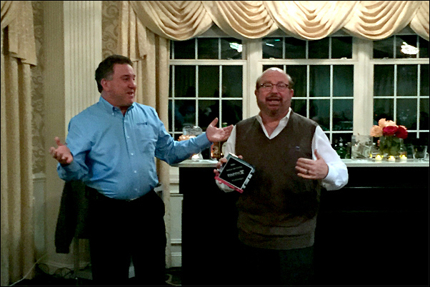 Fred Snyder, MAS (right) receives the PAPPA's 2016 Hall of Fame award from Bruce Korn, CAS, past-president of the regional association.