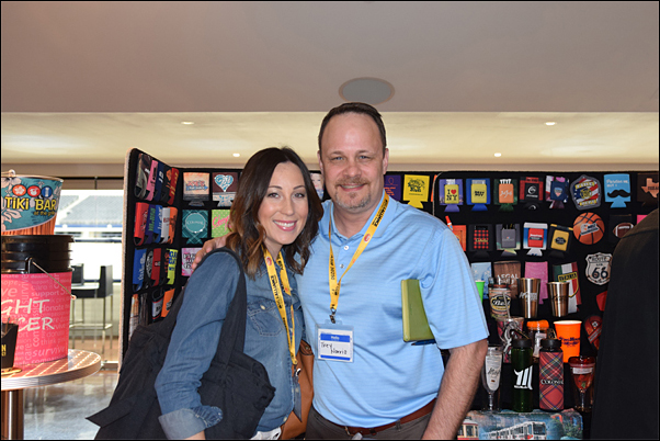 Kristen Dowling and Trey Norris, both of Bob Lilly Promotions, attended the MLR Alliance event with their buyers.