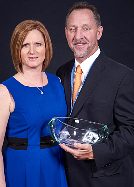 Rick Buckley, The Vernon Company's Supplier Account Manager of the Year. with Vicki Palm, director of marketing for The Vernon Company.