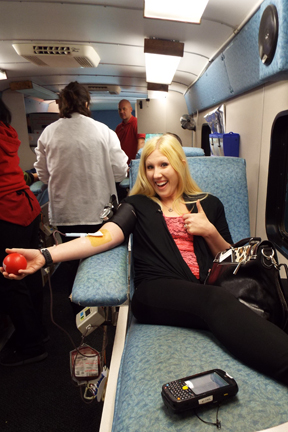 Crystal D's Blood Drive web
