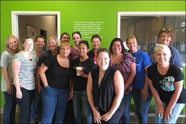 Sixteen WLC participants joined local nonprofit Open Hand on Monday to help prepare meals for low-income families.