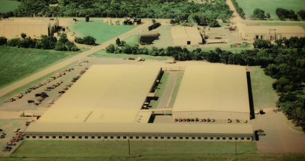 A bird's-eye view of the Custom Printing plant in Belton, Texas.