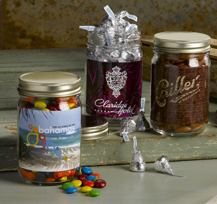 mason jars with almonds web