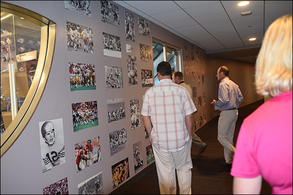The group got an exclusive look at the many pieces of Cowboys' memorabilia on display.