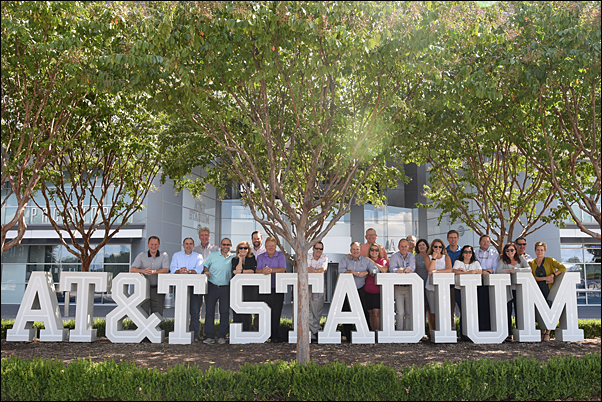 Members of The Partnering Group toured AT&T Stadium on Monday following their meeting at PPAI headquarters in Irving, Texas.
