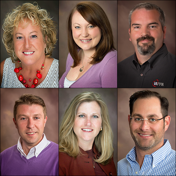 The 2017 RAC Executive officers are (top row, from left) Janet McMaster, MAS, as president; Lindsey Whitney, MAS, as vice president; Harold Wood as secretary; (bottom row, from left) John Bates as treasurer; D'Anna Zimmer, CAS, as RAC delegate to the PPAI Board; and Ryan Small, CAS, as immediate past president.