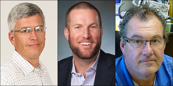PPEF's incoming trustees include, from left, Jeff Hall, CJ Schmidt and Ron Williams.