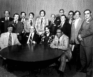 Cutline: The 1973 CAS class was an all-male group. Even in the mid-'70s few women were active in the industry.